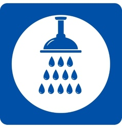 blue shower head icon vector image