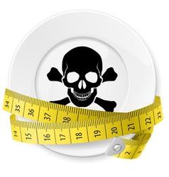 Crossed spoon and fork plate diet metr 04 vector