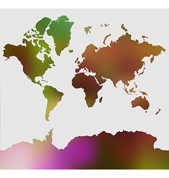 Modern elements World Map vector image vector image
