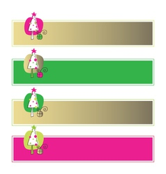 New year web banners vector image