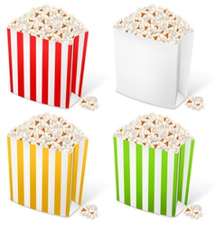 popcorn in multicolored striped packages vector image