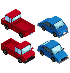 3d design for trucks and cars vector image
