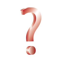 3d question mark vector image
