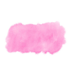 abstract bright pink watercolor stain on white vector image