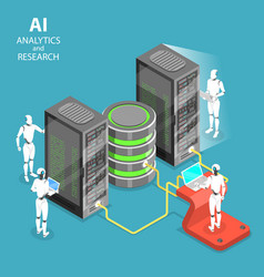 Artificial intelligence analytics and research vector