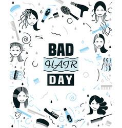 Bad hair day vector