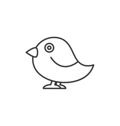 Bird thin line icon vector