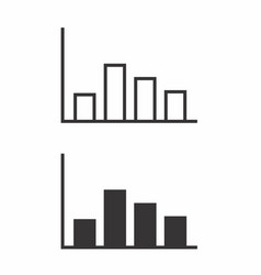 black and white columns charts vector image