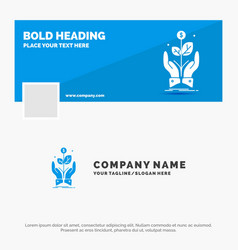 blue business logo template for business company vector image