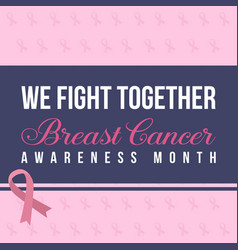 breast cancer day design collection vector image