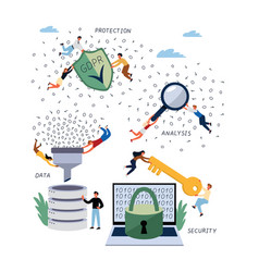 business concept gdpr data and database vector image