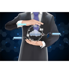 Businessman with technology concept vector