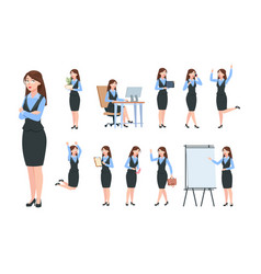 businesswoman characters office professional vector image