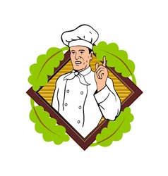 Chef Cook Baker vector image