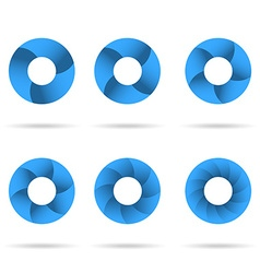 Circles segmented into parts set vector image