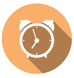 clock with a long shadow vector image