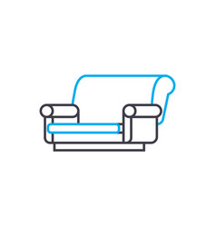 cloth sofa linear icon concept cloth sofa line vector image