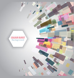 Colour burst background vector
