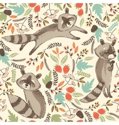 cute raccoon vector image