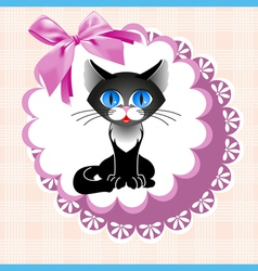 Doily cat vector