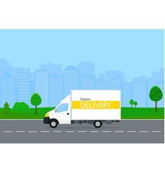 Express delivery truck vector