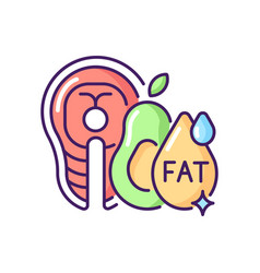 Fats rgb color icon vector