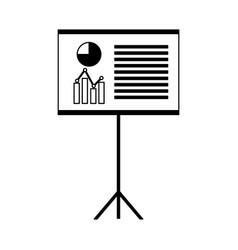 financial board presentation report vector image