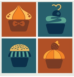 flat cakes vector image vector image