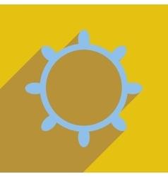 Flat web icon with long shadow ship steering wheel vector