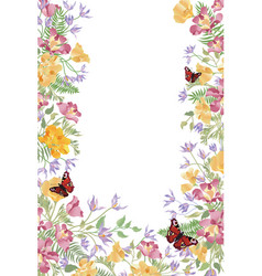 Floral background decorative summer flower frame vector