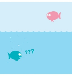 funny cartoon fishes vector image