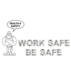 Health and safety message vector
