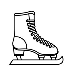 ice skate isolated icon vector image