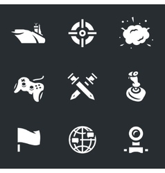 Icons Set of Ship Video Games vector image