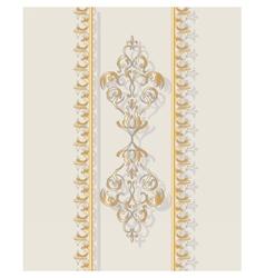 Invitation card with golden classic ornament vector