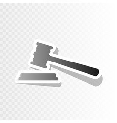 justice hammer sign new year blackish vector image