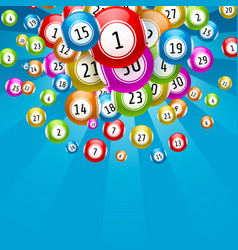Lottery game balls with numbers vector