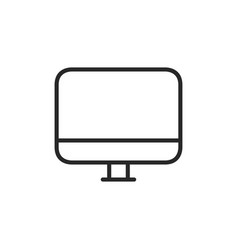 monitor icon vector image