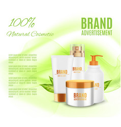 natural cosmetic template vector image
