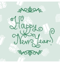 New Year lettering of fir-tree font vector image