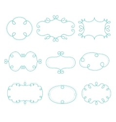 Outline Frames Mono Line Graphic vector image