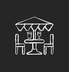 Patio furniture and accessories chalk white icon vector