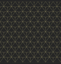 pattern of connecting triangles vector image