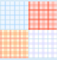 plaid pattern seamless vector image
