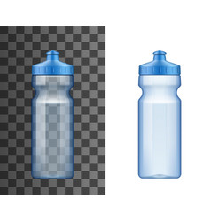 plastic water bottle sport drink 3d mockup vector image