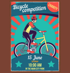 poster design with bicycles vector image