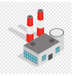 Power plant isometric icon vector