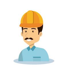 Professional construction man character vector