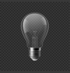 realistic bulb turned off isolated on transparent vector image