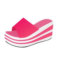 Rose striped woman sandal vector